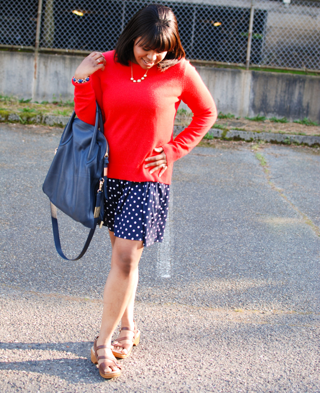 Lace & Pearls Polka Dot Dress 3
