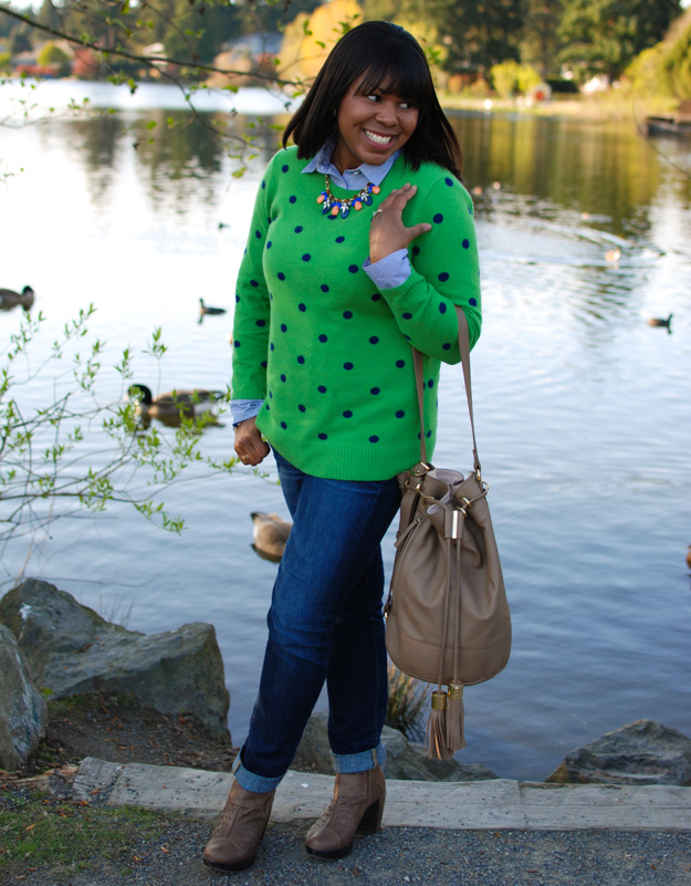 Lace & Pearls - Polka Dot Sweater 1
