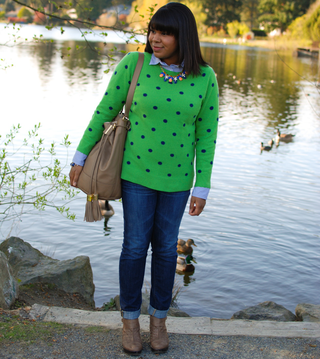 Lace & Pearls - Polka dot sweater 2