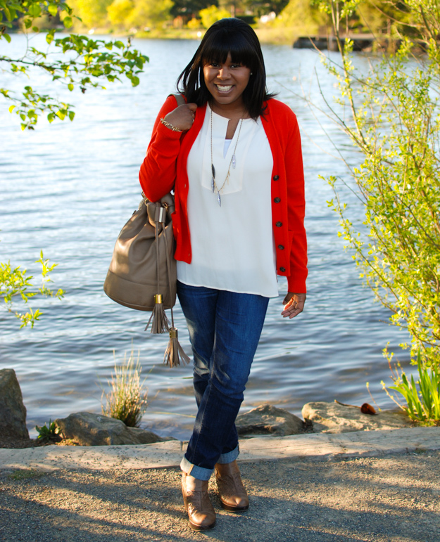 Lace & Pearls Red Cardigan 2