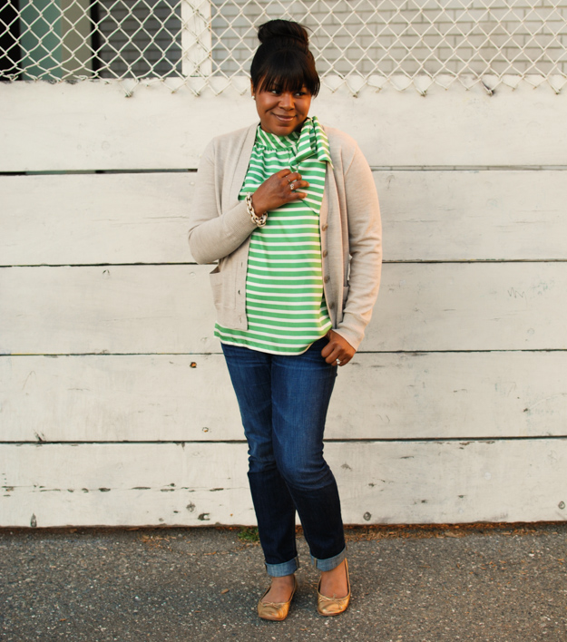 Lace & Pearls Stripe Blouse 4