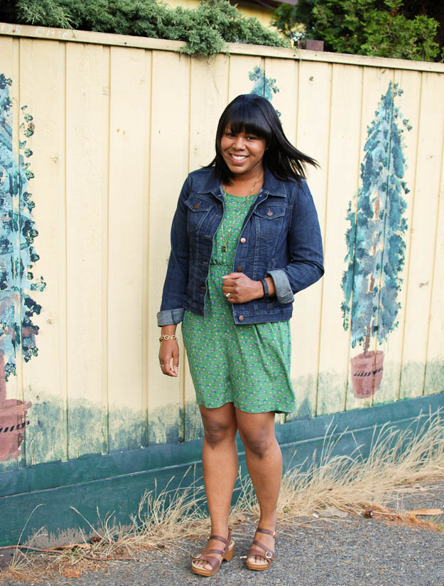 Lace & Pearls Green Floral Dress 1