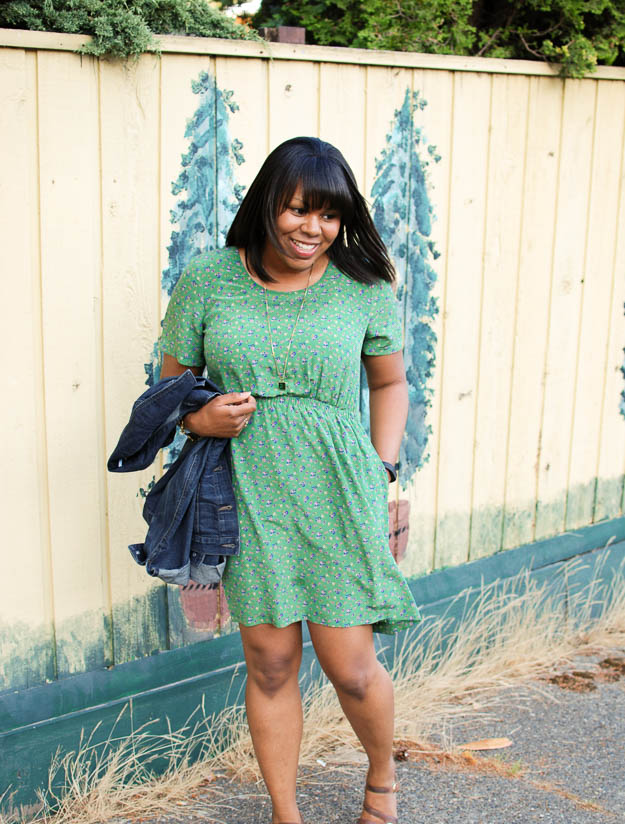 Lace & Pearls Green Floral Dress 3