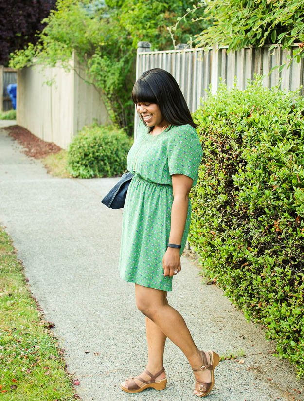 Lace & Pearls Green Floral Dress 4