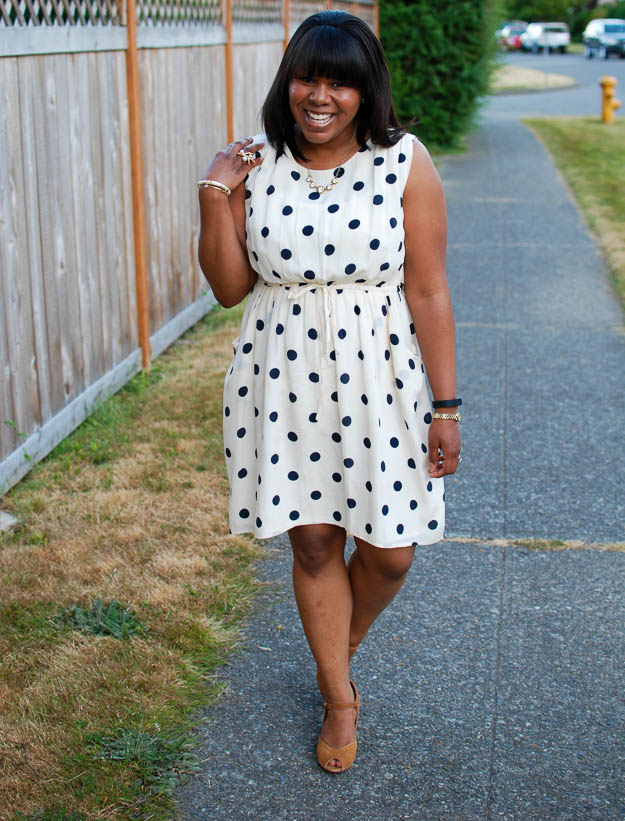 Lace & Pearls Polka Dot Dress 1