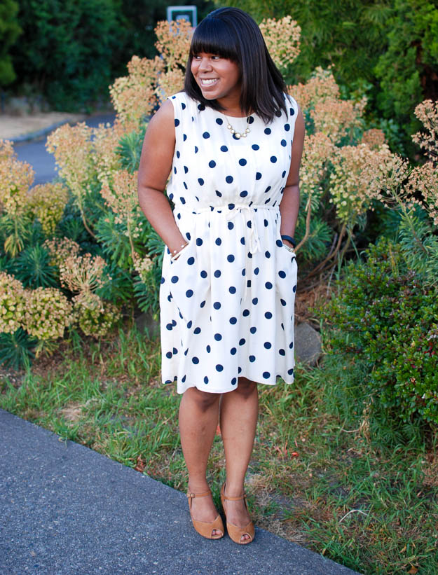 Lace & Pearls Polka Dot Dress 4