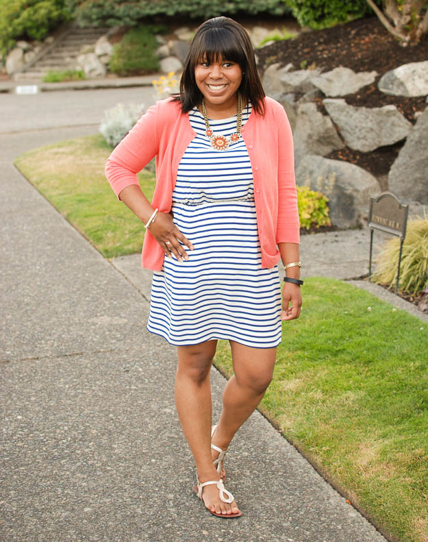 Lace & Pearls Stripe Dress 1
