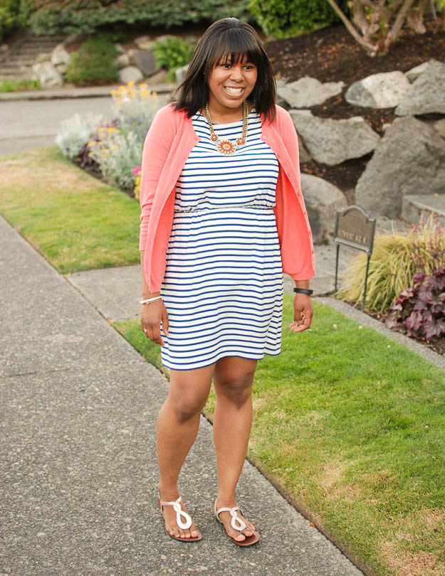 Lace & Pearls Stripe Dress 3