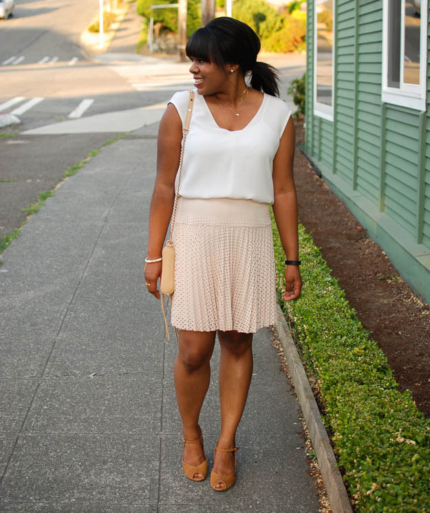 Lace & Pearls Pink Skirt 1