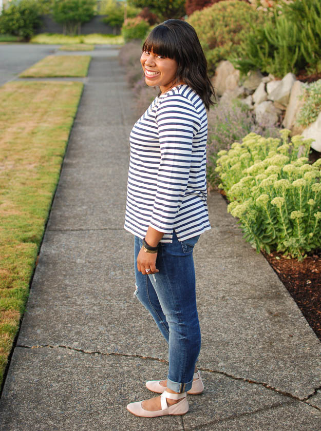 Lace & Pearls Stripe Tee 4