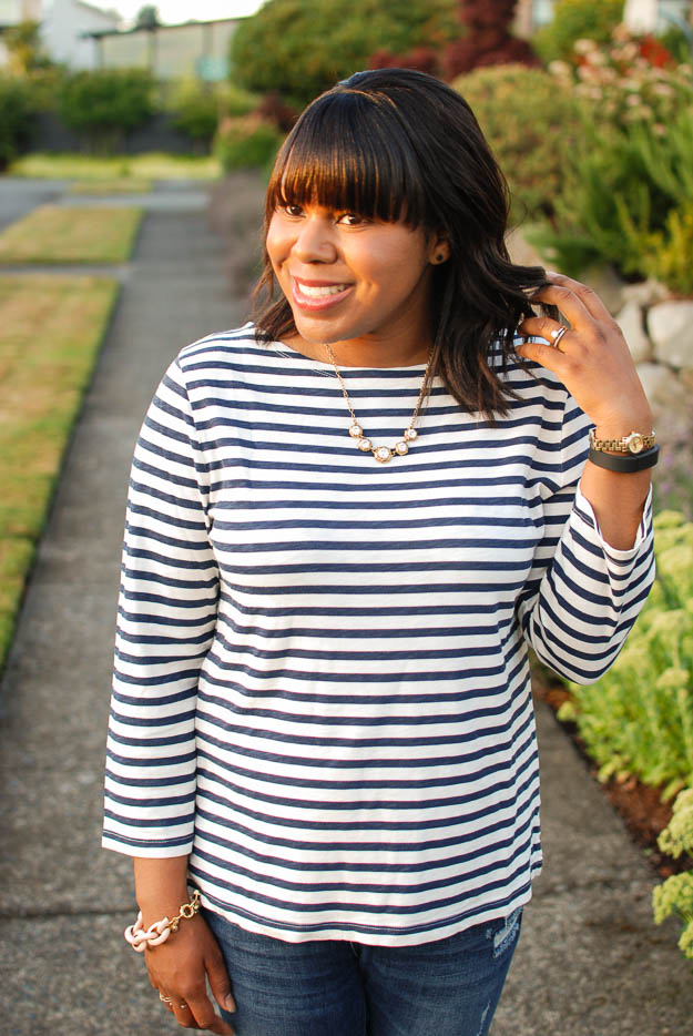 Lace & Pearls Stripe Tee 5